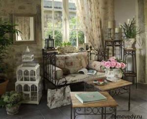 гостинная в стиле прованс