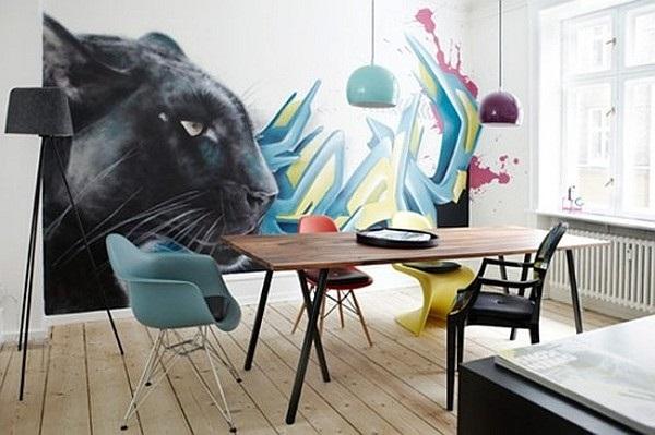 графити в столовой
