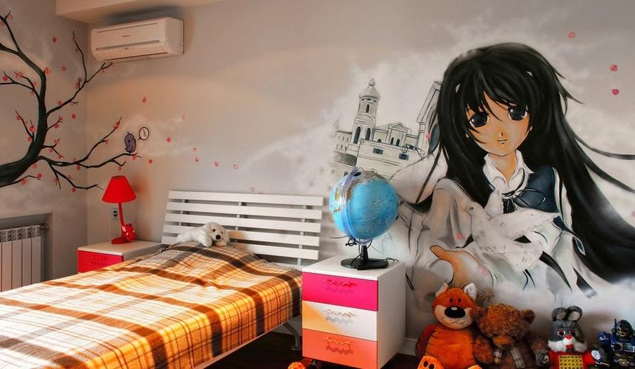 граффити в детской