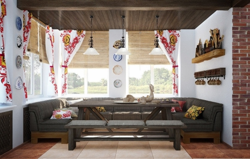 Русский стиль в интерьере дома