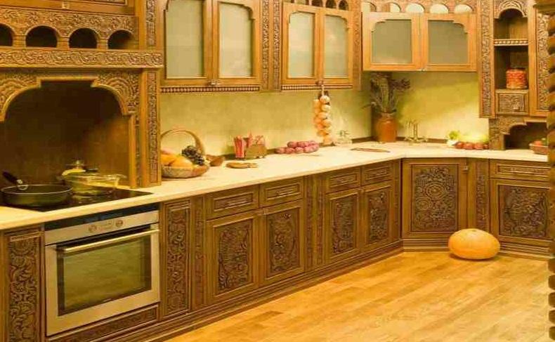 Русский стиль резная мебель