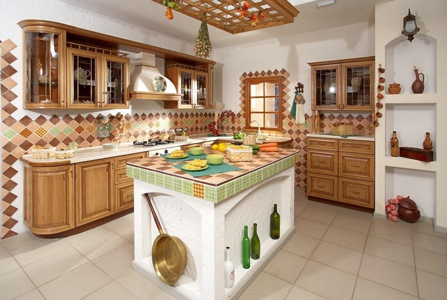 Русский стиль современная кухня