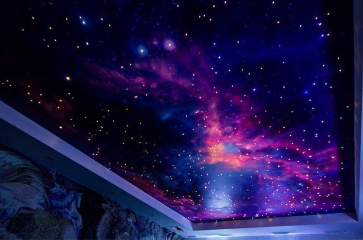 космос на потолке фото