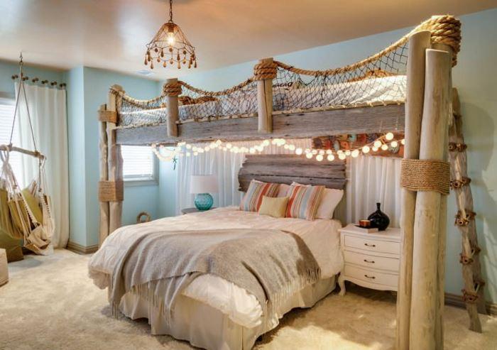 кровать в морском стиле фото