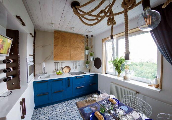 кухня в морском стиле интерьер