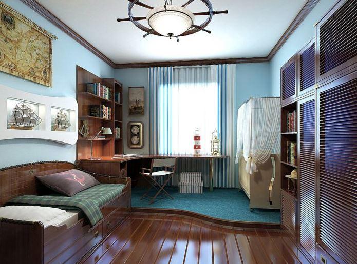 комната в моском стиле фото пример