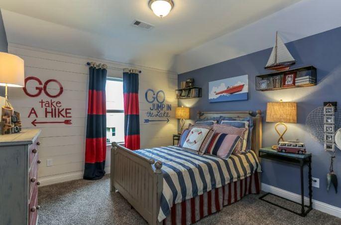 спальная комната подростка морской стиль фото