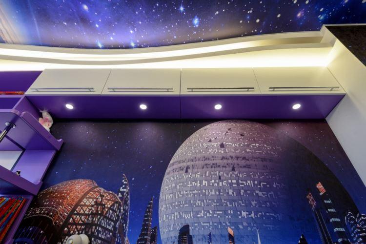 обои космос, космос на потолке фото
