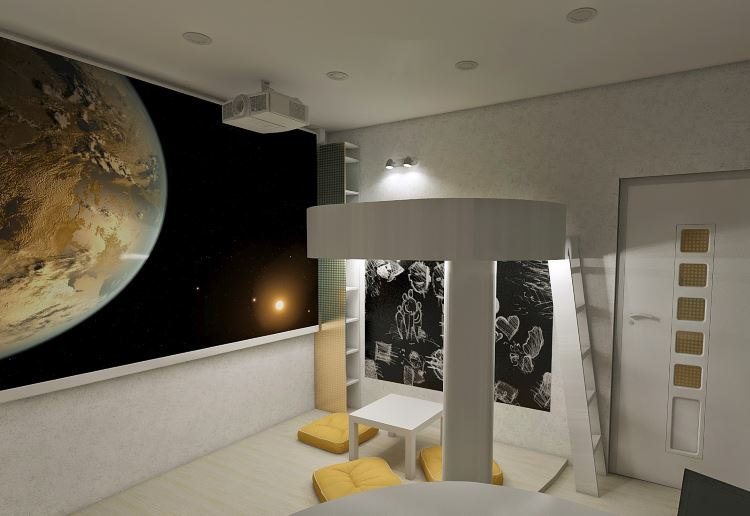 интерьер в стиле космос фото