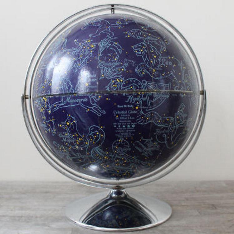 карта звездного неба - глобус фото