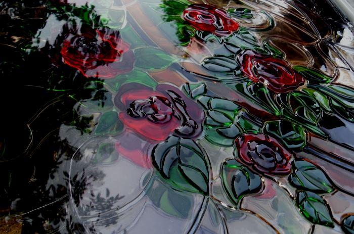 фьюзинг витраж роза фото