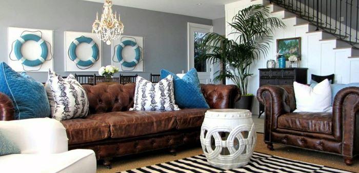 Интерьер морской стиль: дизайн комнаты Фото примеры