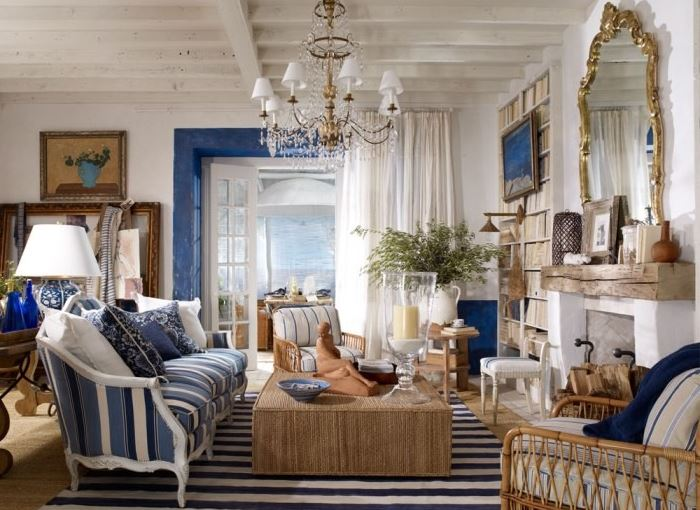 интерьер комнаты в морском стиле фото